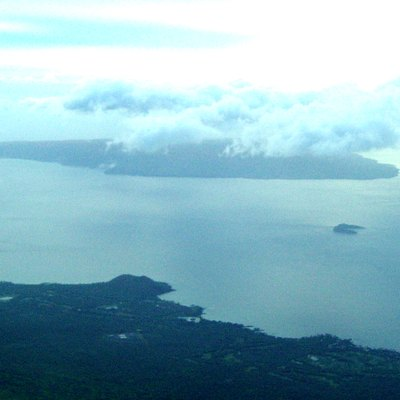 Aerial photo of Makena (Maui) and the islands of Molokini and Kahaoolawe