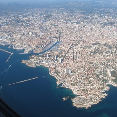 An aerial photograph of Marseille