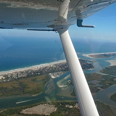 Aerial view of Ponce Inlet, Florida