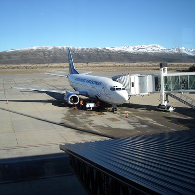 Aerolineas Argentinas' Boeing 737-500 at Bariloche Airport, Río Negro, Argentina.