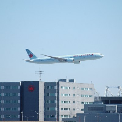 Air Canada Centre, Air Canada headquarters, and Air Canada Boeing 777-333ER - Montreal, Quebec. It is nicknamed