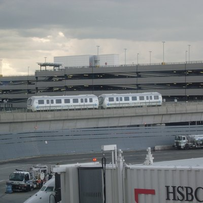 AirTrain JFK seen from terminal 4.