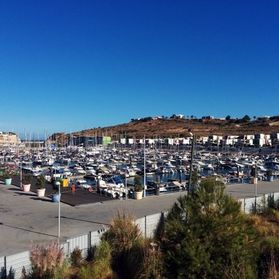 View of Albufeira marina facing south east.