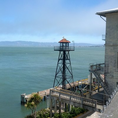 Alcatraz Island harbour guards tower