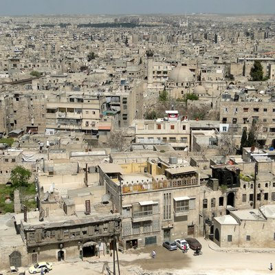 View of Aleppo from the Citadel, Syria