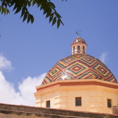 Such a beautiful dome! Dome of church San Michele, Alghero/Italy.