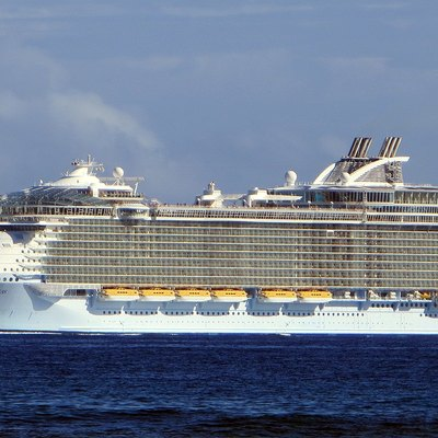 Cruise ship Allure of the Seas in Falmouth, Jamaica