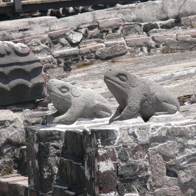 Templo Mayor in Mexico City. Altar of the toads ( 1470 ) as symbols of water.