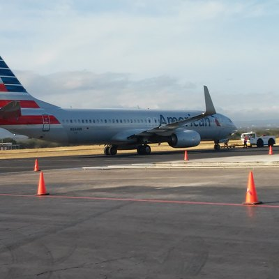 AA Boeing 737-800 at Augusto C. Sandino International Airport, Managua in January 2015