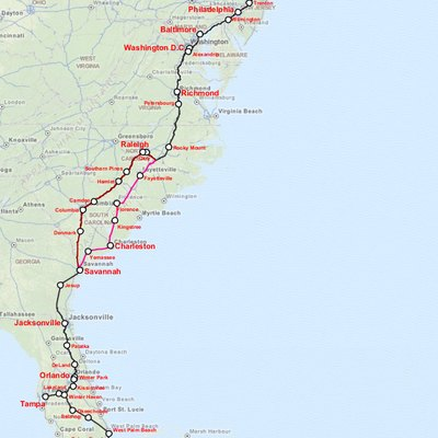 Amtrak Silver Service (interactive map)