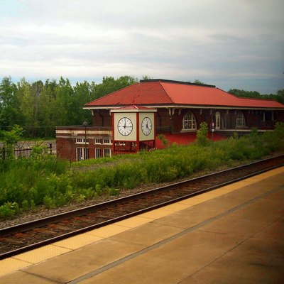 Station Building and Platform at Rome NY