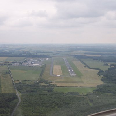 Aerial overview of Paderborn Lippstadt Airport