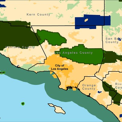 Location of Angeles National Forest, near Los Angeles. Map created by User:Aude