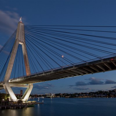 Anzac Bridge in Sydney, Australia