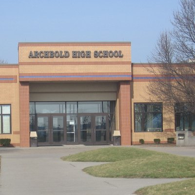A photo of Archbold High School, taken by the uploader.