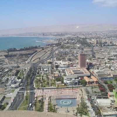 Arica, Chile - A View From El Morro Of The Port And Downtown