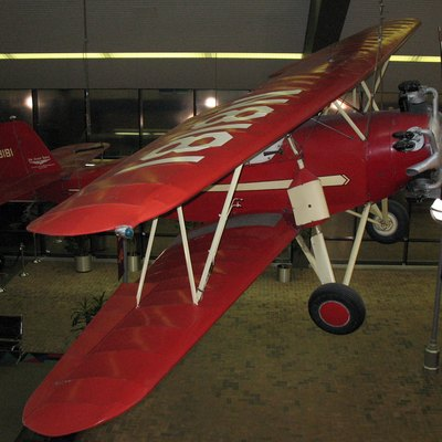 Photo of an Arrow Sport; as seen hanging in the Lincoln Airport passenger terminal (south section), 2400 W. Adams Street in Lincoln, Nebraska. Photo taken from the second floor gates 3 & 4 walkway in the terminal.