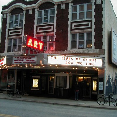A view of the historic Art Theater in Champaign, Illinois