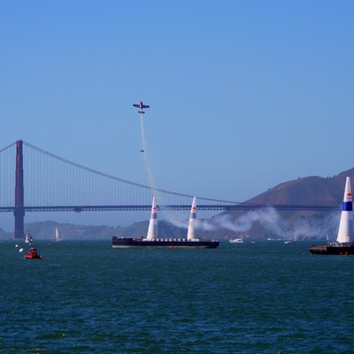 Red Bull Air Race World Series Event Taking Place Near The Golden Gate Bridge In San Francisco, California.
