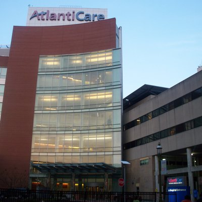 AtlantiCare Regional Medical Center Atlantic City Campus in Atlantic City, NJ. Photo Taken from Street View Across the street of the AtlantiCare Regional Medical Center at the Parking Garage for Caesars Casino in Atlantic City, NJ
