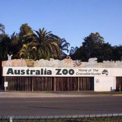 Picture Of Sign Near Entrance Of Australia Zoo.