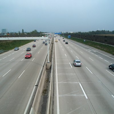 A2 Süd Autobahn, A Motorway In Austria, Between The Exits Wiener Neudorf And Mödling/Scs