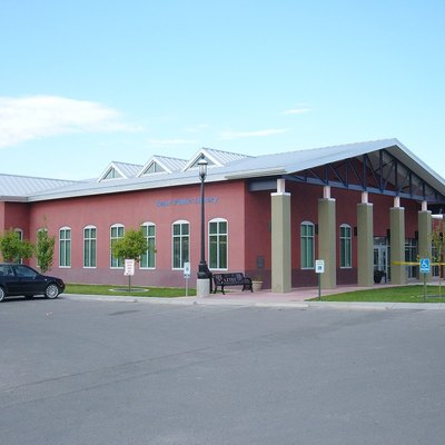 Aztec Public Library in Aztec, New Mexico. Built in 2005.