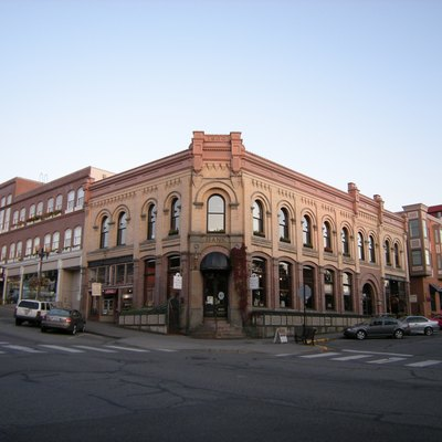 Former bank building, historic Fairhaven district, Bellingham, Washington.