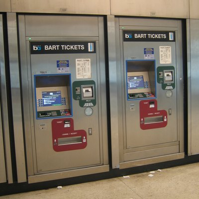 Bart Ticket-Vending Machines In The Powell Street Station.