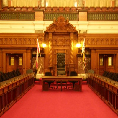 The chamber of the British Columbia provincial legislature in Victoria, B.C.