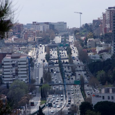 B-20 Motorway In Barcelona.