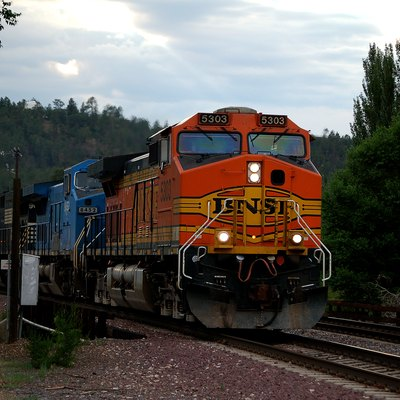 Bnsf Train In Flagstaff, Arizona. Photo By Derek Cashman.