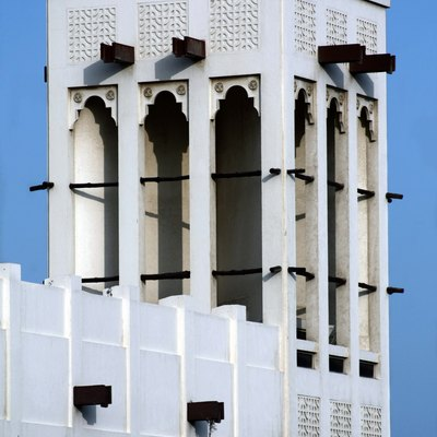 A wind tower located in Bahrain.