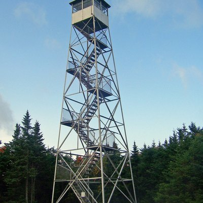 Balsam Lake Mountain Fire Tower, Hardenburgh, Ny, Usa