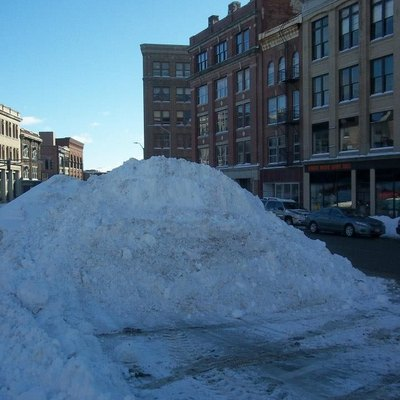 Snow In Downtown Bangor