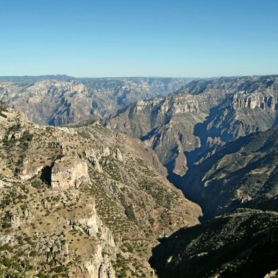 View On The Copper Canyon (Barranca Del Cobre) In Chihuahua, Mexico. Picture Taken February 2006 By Jens Uhlenbrock.