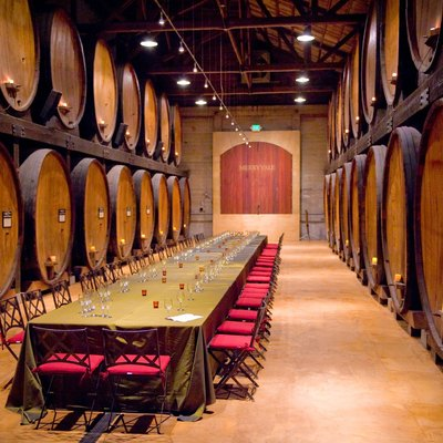 Barrel Room at Merryvale Winery in California