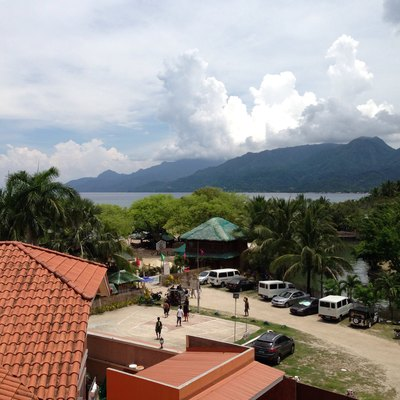 View of Tayabas Bay and the Lobo Mountain Range from Barrio Laiya, San Juan, Batangas