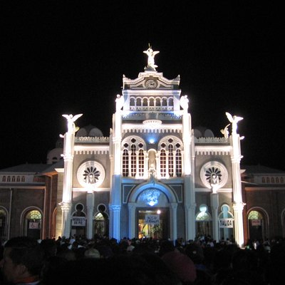 Church of the Virgin of the Angels during 2007 pilgrimage. Cartago, Costa Rica.