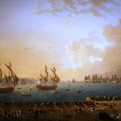 The Battle of Martinique between British and French fleets in 1779