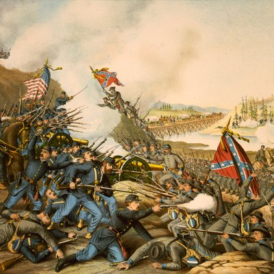 TITLE: Battle of Franklin. November 30, 1864 - Union Army (Gen. Schofield) ... Confederate (Gen. Hood).