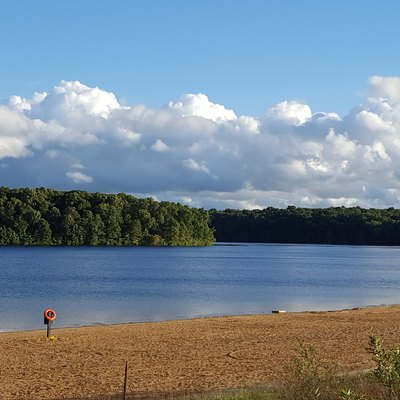 Beach at Eagle Lake, Fort Custer Recreation Area, Michigan