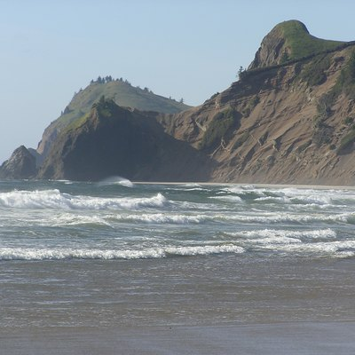 The beach at Road's End State Park in Lincoln City, OR