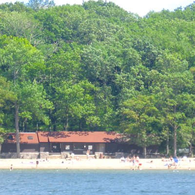 The Beach House on Lake James, at the western edge of Pokagon State Park, Indiana.