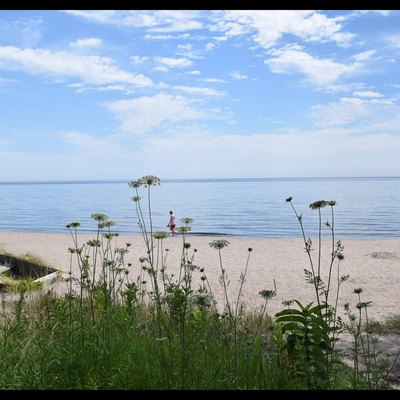 This public beach on Lake Michigan is located north and east of downtown Sheboygan.