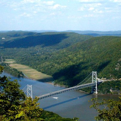 Bear Mountain Bridge from the top of Bear Mountain