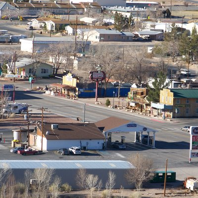 A view of downtown Beatty, Nevada, USA.