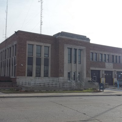 This is Benton Harbor City Hall.