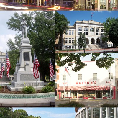 Collage of Bentonville, Arkansas