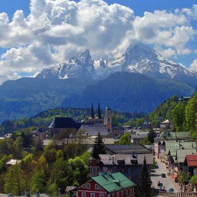 Berchtesgaden With A View Of Mount Watzmann In Germany